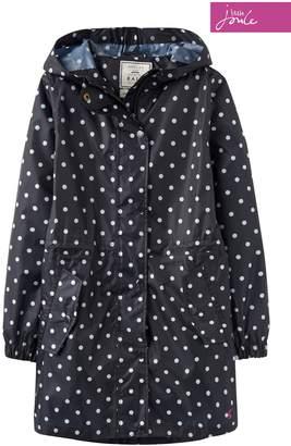 Next Girls Joules Blue Go-Lightly Packaway Waterproof Jacket