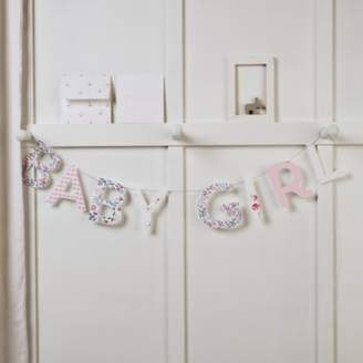 The White Company Baby Girl Bunting Card