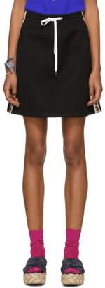 Miu Miu Black Drawstring Miniskirt