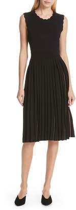 Kate Spade Scallop Pleat Sweater Dress