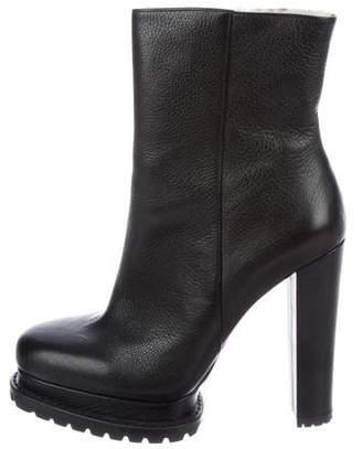 Alice + Olivia Leather Platform Boots