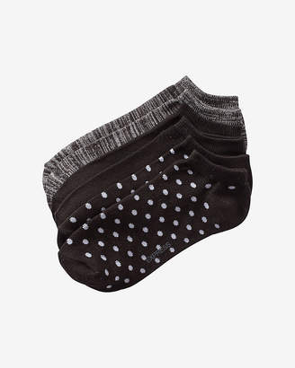 Express 3 Pack Space Dye, Solid And Polka Dot Ankle Socks