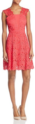 Adelyn Rae Felicity Lace Fit-and-Flare Dress $120 thestylecure.com