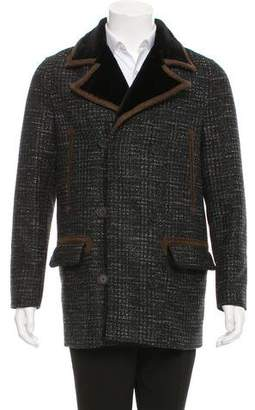 The Kooples Double-Breasted Wool Peacoat