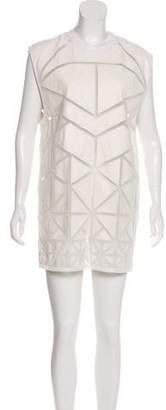 Skingraft Leather Mesh Dress