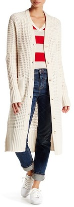 Lands' End Canvas Lands& End Canvas Long Wool Blend Cardigan $195 thestylecure.com