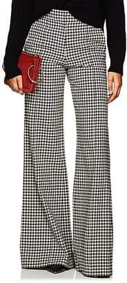 Derek Lam Women's Checked Wide-Leg Flared Trousers