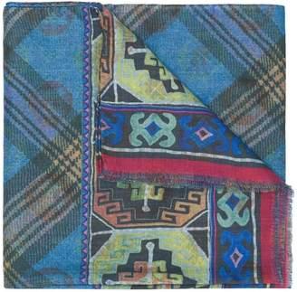 Etro mixed pattern scarf