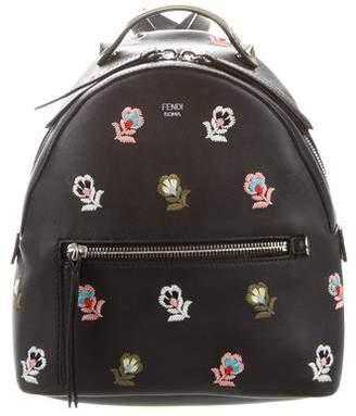Fendi Mini Zaino Embroidered Backpack