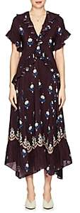 Warm Women's Stevie Floral Crêpe De Chine Maxi Dress - Wine