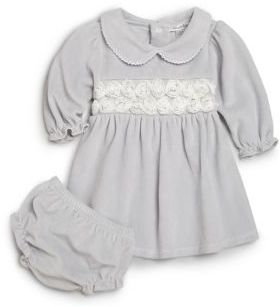 Kissy Kissy Baby's Two-Piece Winter Rose Dress & Bloomers Set $63 thestylecure.com