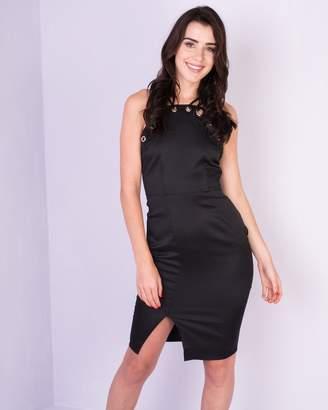 Missy Empire Missyempire Aliza Black Eyelet Detail Bodycon Dress d41b4be67