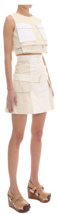 Alexander McQueen High Waisted Utility Skirt