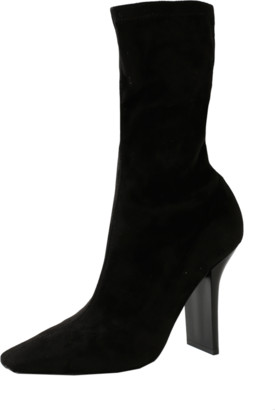Stella McCartney Stretch Square Toe Heel Booties