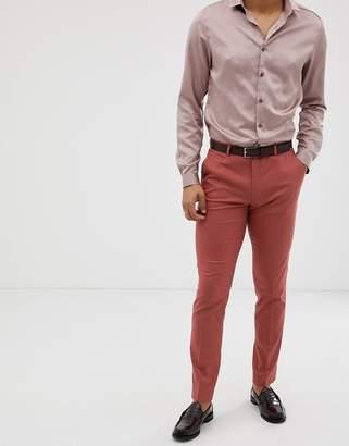 Asos Design DESIGN skinny suit trousers in pink