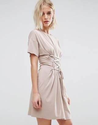 Asos DESIGN Corset Detail T-Shirt Dress
