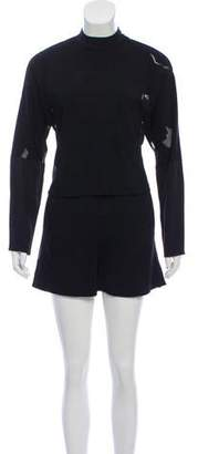 Tibi Crew Neck Long Sleeve Romper w/ Tags