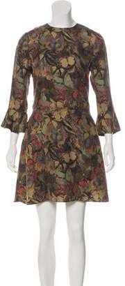 Valentino Camubutterfly Silk Dress
