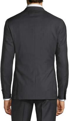 Neiman Marcus Slim-Fit Two-Piece Wool Suit, Black