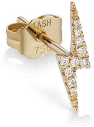Lightning Bolt Maria Tash 11mm White Diamond Earring - Yellow Gold