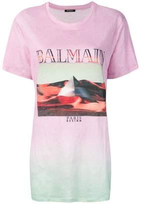 Balmain tie-dye print T-shirt