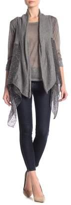 Tempo Paris Sharkbite Sweater Vest with Burnout Top