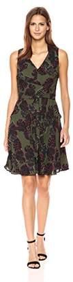 Tahari by Arthur S. Levine Women's Sleeveless Printed a-Line Dress