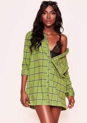 2d6d3139a3ff1 Missy Empire Missyempire Jodie Green Check Shirt Dress