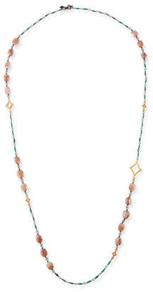 "Armenta Cuento Long Crivelli & Stone Necklace, 40""L"