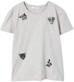 MANGO Crystal appliqu?? t-shirt