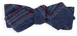 Alexander Olch Men's Plaid Basket-Weave Wool Bow Tie