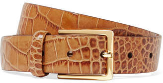 Andersons Anderson's - Croc-effect Leather Belt - Tan