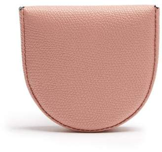 Valextra Grained Leather Coin Purse - Mens - Pink