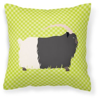 East Urban Home Necked Goat Check Outdoor Throw Pillow East Urban Home