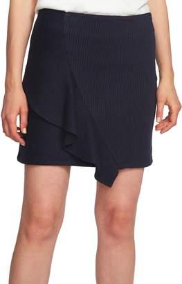 1 STATE 1.STATE Ruffle Pinstripe Miniskirt