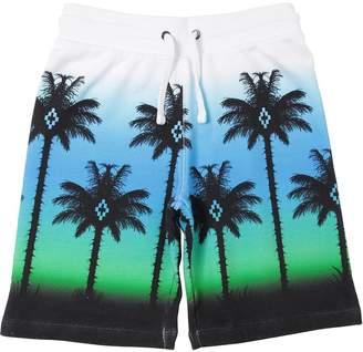 Marcelo Burlon County of Milan Printed Cotton Sweat Shorts