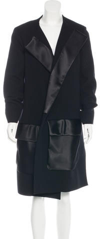 CelineCéline Satin-Trimmed Virgin Wool Coat