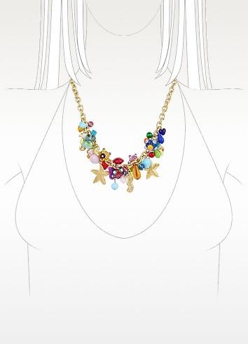 Antica Murrina Veneziana Marilena - Murano Glass Marine Gold Plated Necklace