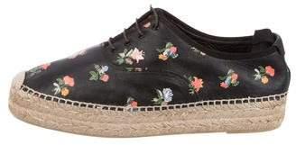 Saint Laurent Floral Espadrille Sneakers