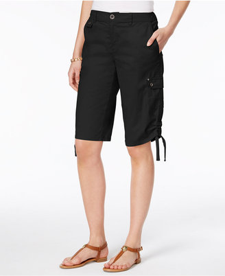 Style & Co Ruched Bermuda Shorts, Only at Macy's $46.50 thestylecure.com