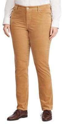 Lauren Ralph Lauren Plus Straight Corduroy Pants
