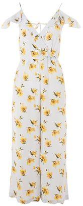 Topshop Frill floral wrap jumpsuit $80 thestylecure.com