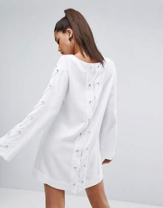 KENDALL + KYLIE Bell Sleeve Grommet Dress