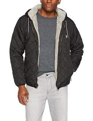 U.S. Polo Assn. Men's Diamond Quilt Hooded Jacket