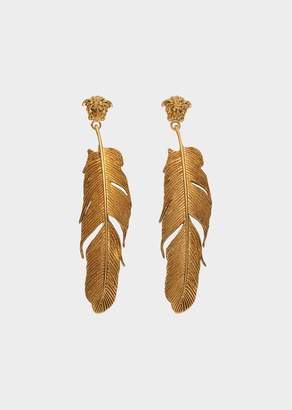 Versace Feather Tribute Earrings