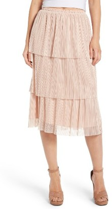 Women's Leith Plisse Pleated Skirt $69 thestylecure.com