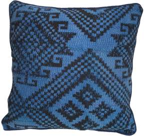 Carousel Jewels - Abstract Blue & Black Cushion