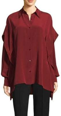 Diane von Furstenberg Silk Button-Down Shirt