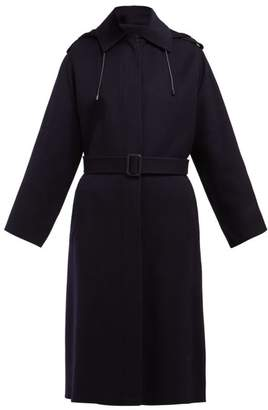 Joseph Carbon Feather Single Breasted Wool Blend Coat - Womens - Navy