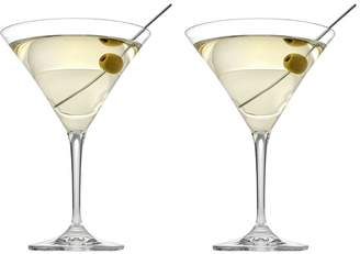 Noritake Set of 2 Tasting Hour Martini Glasses